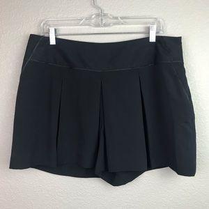 Elle 14 Black Flowy Casual Shorts